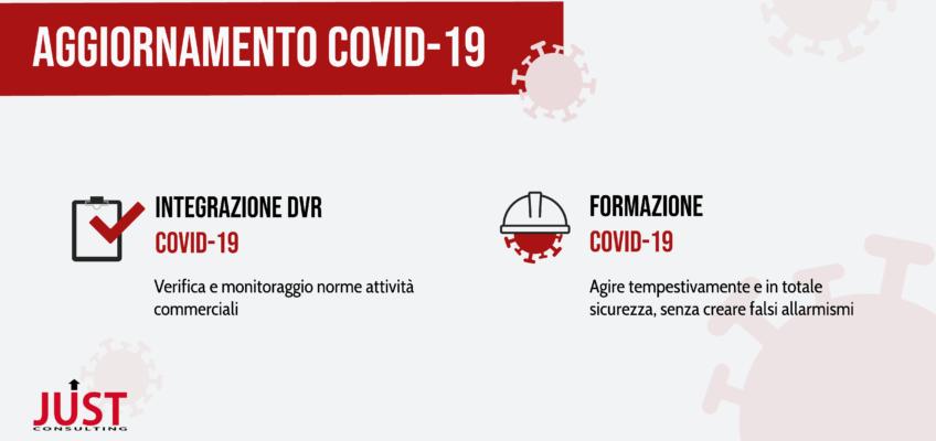 Infografica formazione e DVR Covid