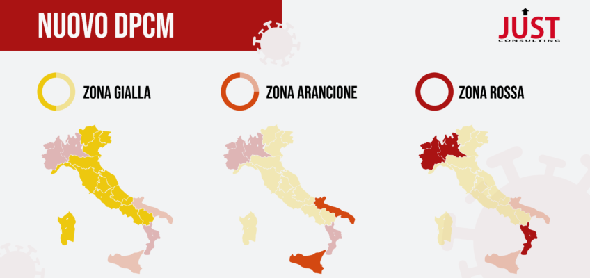 Nuovo Dpcm - Infografica delle diverse zone in Italia