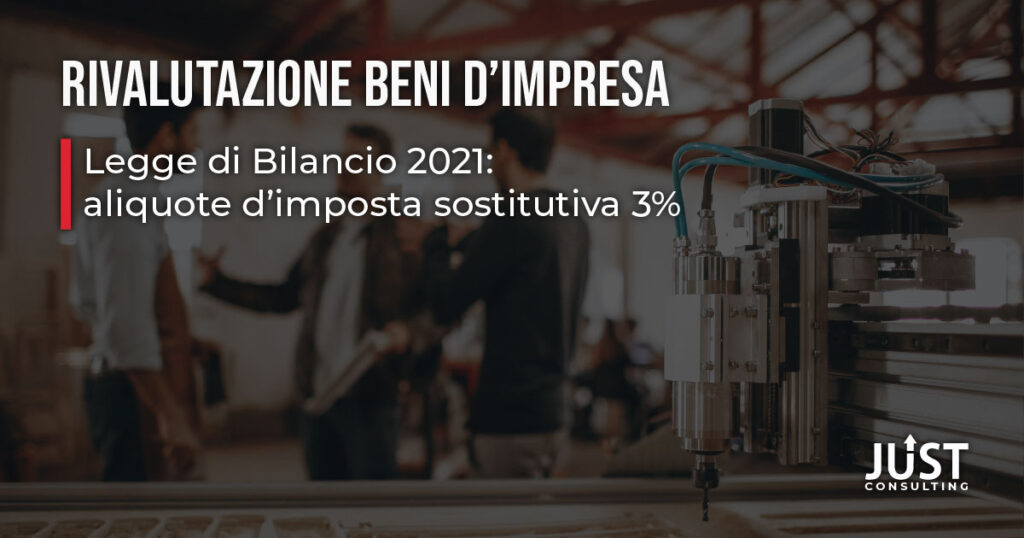 rivalutazione beni d'impresa, legge di bilancio 2021, aliquote al 3%