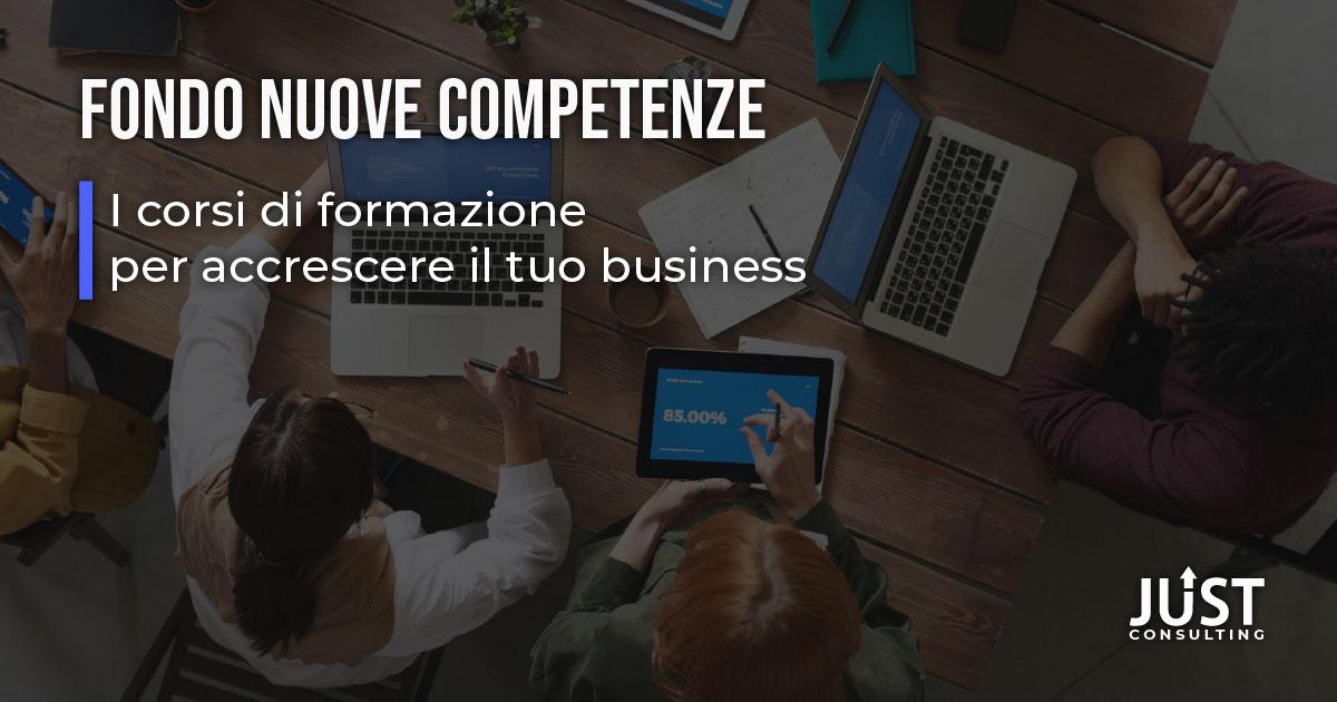 Fondo Nuove Competenze, formazione digital, formazione online, formazione aziendale, contributi alle imprese