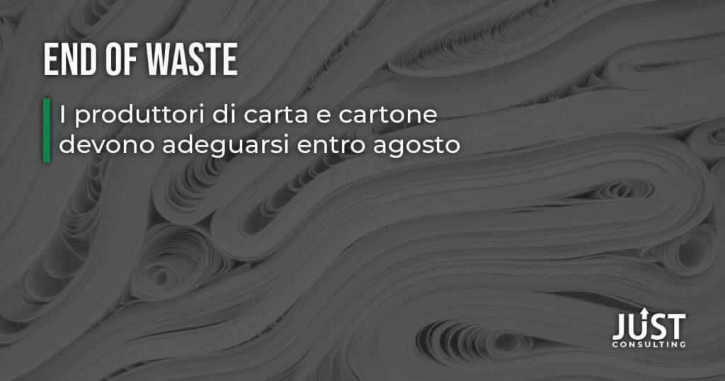 End of Waste carta e cartone, economia circolare, Emilia-Romagna, Bologna, industria cartaria